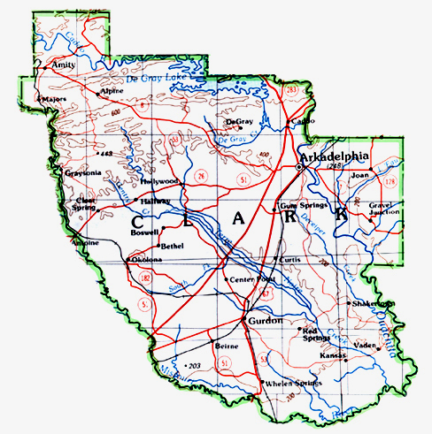 on clark county map
