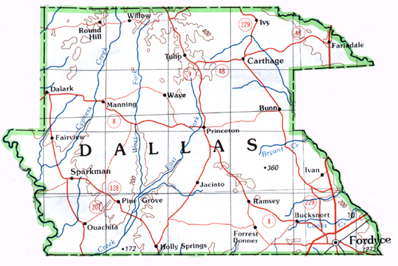 Dallas County Map. on